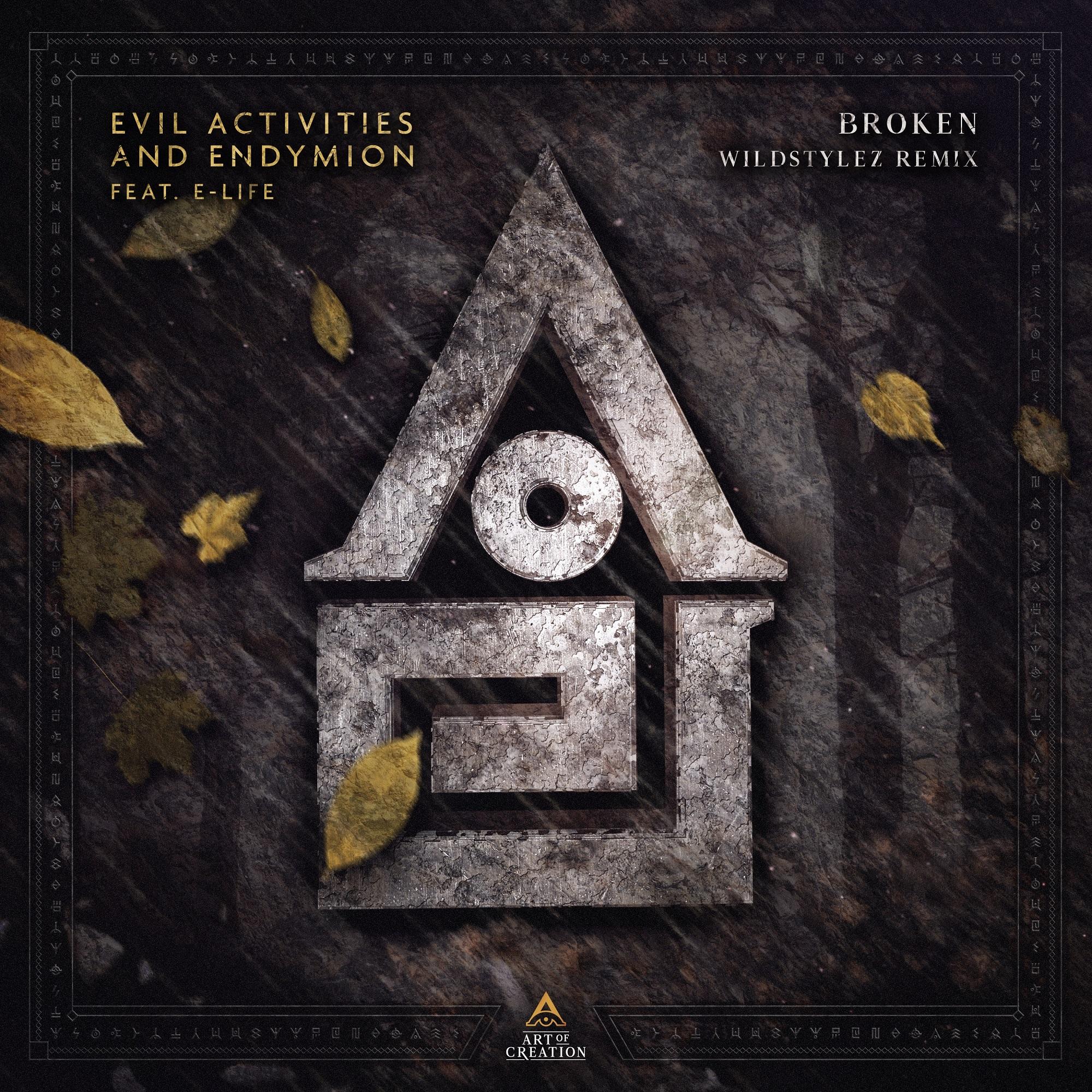 AOC002 _Evil Activities & Endymion feat. E-Life - Broken (Wildstylez Remix) Cover 2000 x2000