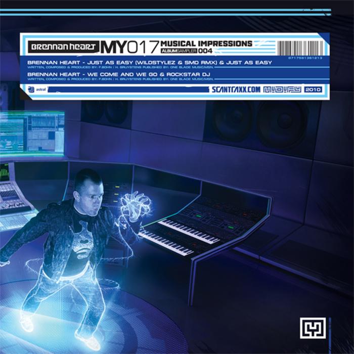 Brennan Heart - Just As Easy (SMD & Wildstylez Remix)